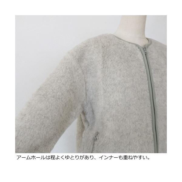 Cold Breaker ブルゾン ウール ボアパイル ショート コールドブライカー amico-di-ineya 04