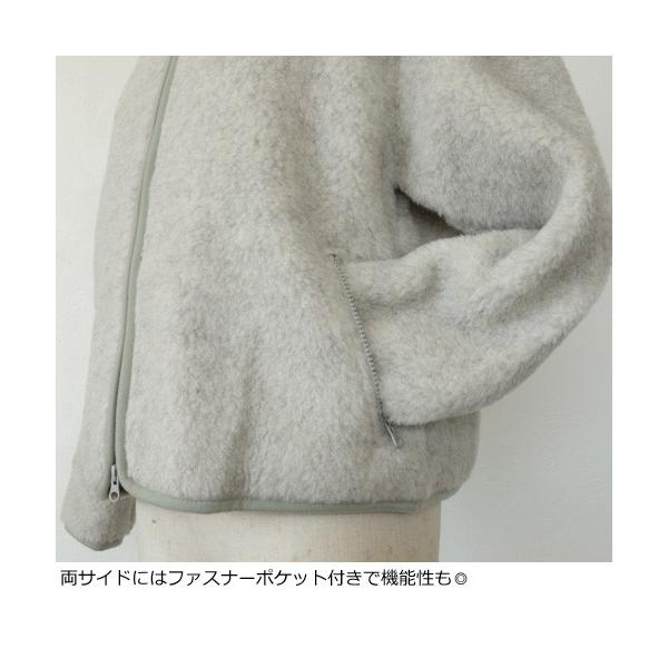 Cold Breaker ブルゾン ウール ボアパイル ショート コールドブライカー amico-di-ineya 05