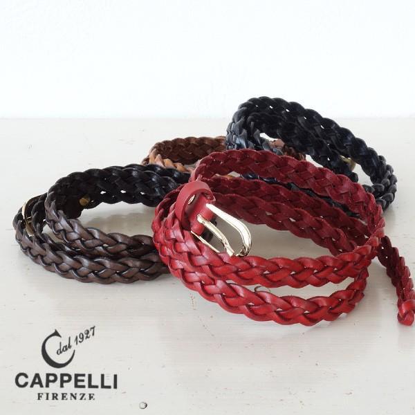 CAPPELLI カペリ メッシュ レザーベルト イタリア製 レディース|amico-di-ineya