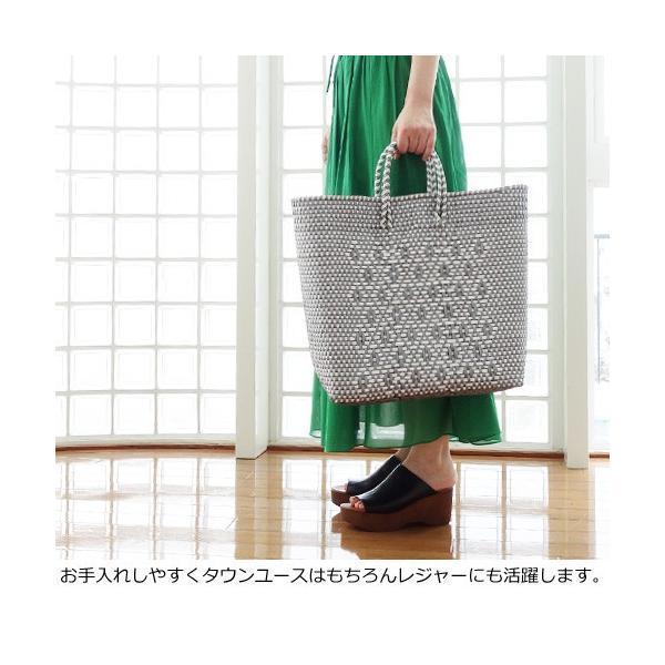 SANRAMI (サンラミ) ポリエチレン かごバッグ メルカドバッグ [Lサイズ] 384018 amico-di-ineya 07