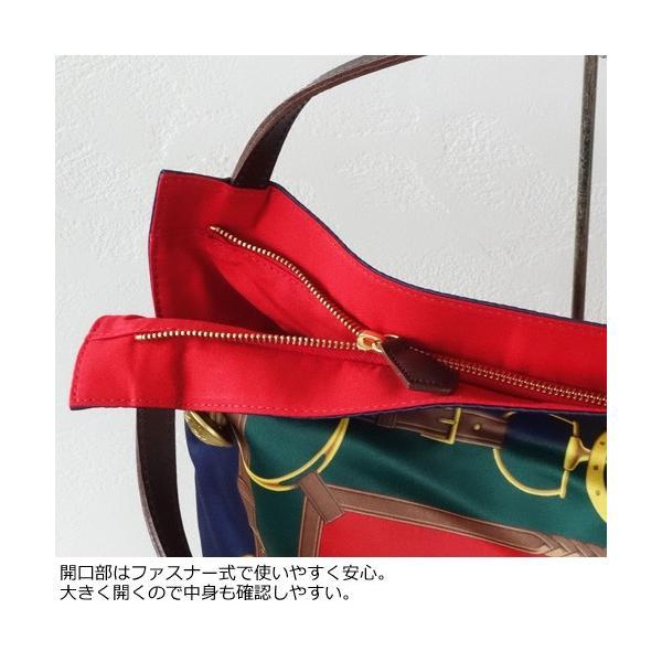 TOPKAPI A4 トートバッグ スカーフ パネル柄 マイルドサテン トプカピ 503-06-11006|amico-di-ineya|05