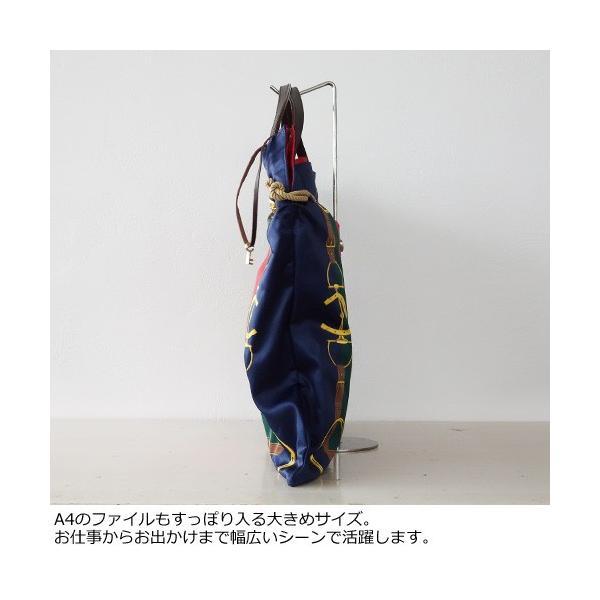 TOPKAPI A4 トートバッグ スカーフ パネル柄 マイルドサテン トプカピ 503-06-11006|amico-di-ineya|08