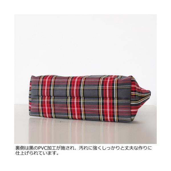 TOPKAPI トートバッグ タータンチェック柄 キャンバス レザー [Lサイズ] トプカピ 503-06-11007|amico-di-ineya|06