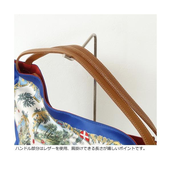 TOPKAPI (トプカピ) スカーフパネル柄 マイルドサテン A4 トートバッグ [Lサイズ] 503-06-81006|amico-di-ineya|02