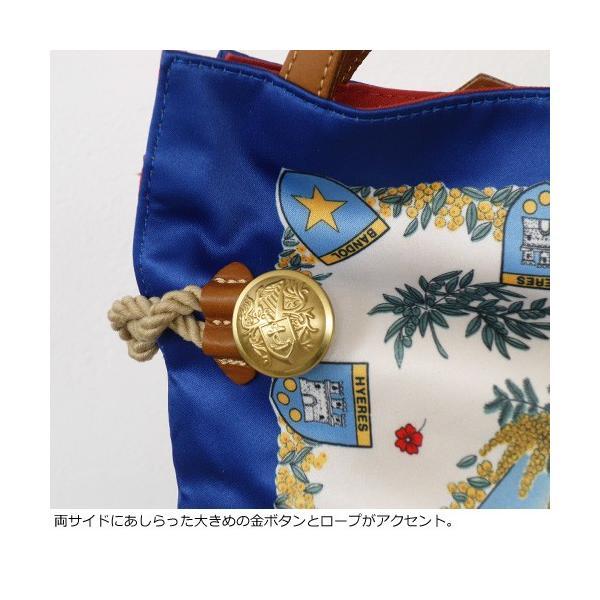 TOPKAPI (トプカピ) スカーフパネル柄 マイルドサテン A4 トートバッグ [Lサイズ] 503-06-81006|amico-di-ineya|03