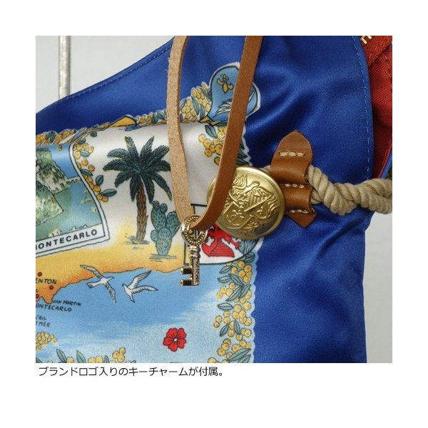 TOPKAPI (トプカピ) スカーフパネル柄 マイルドサテン A4 トートバッグ [Lサイズ] 503-06-81006|amico-di-ineya|04