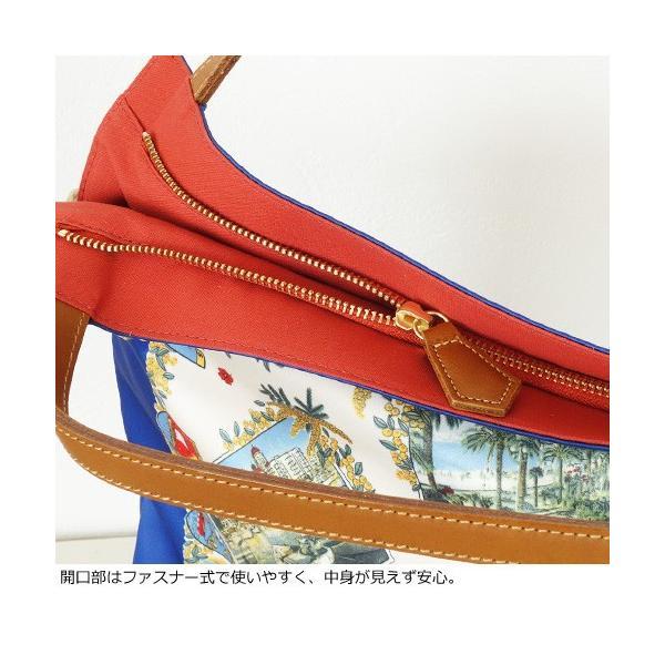 TOPKAPI (トプカピ) スカーフパネル柄 マイルドサテン A4 トートバッグ [Lサイズ] 503-06-81006|amico-di-ineya|05