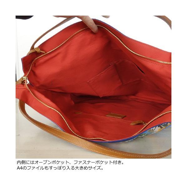 TOPKAPI (トプカピ) スカーフパネル柄 マイルドサテン A4 トートバッグ [Lサイズ] 503-06-81006|amico-di-ineya|06