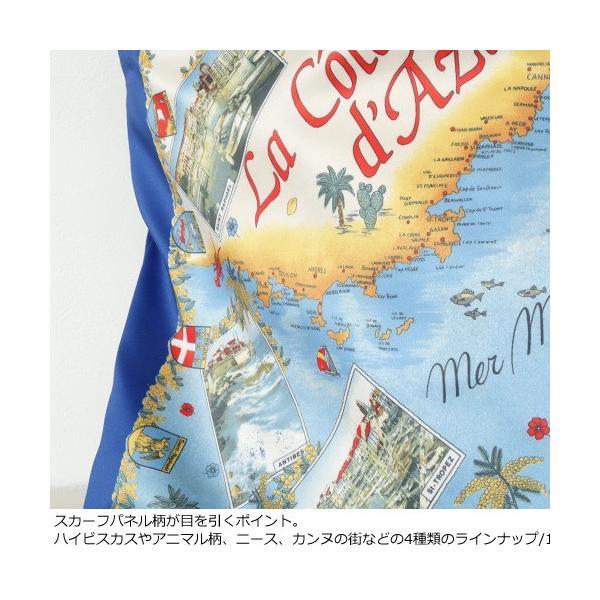 TOPKAPI (トプカピ) スカーフパネル柄 マイルドサテン A4 トートバッグ [Lサイズ] 503-06-81006|amico-di-ineya|07