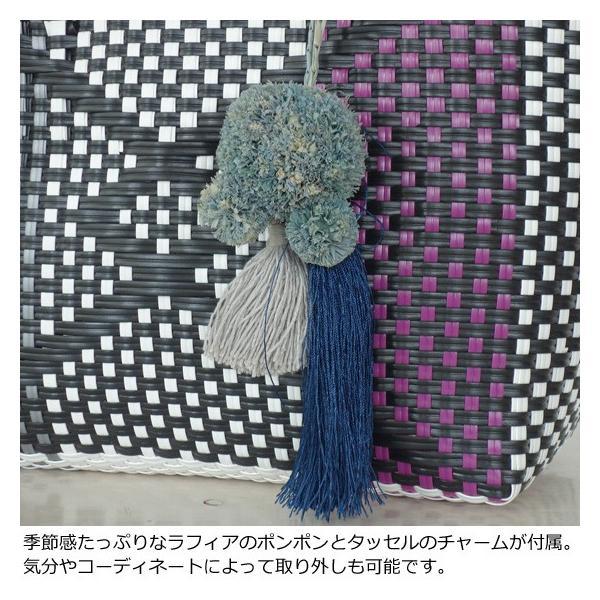 TOPKAPI (トプカピ) エスニック ラフィア ポンポン メルカドバッグ [Sサイズ] 506-06-20014 amico-di-ineya 03