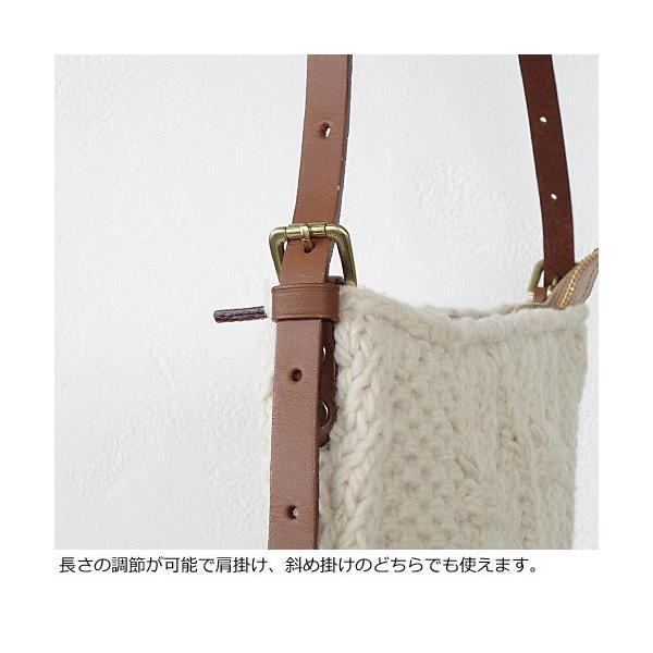 TOPKAPI (トプカピ) ショルダーバッグ ペルーニット ケーブル編み ウール レザー 507-06-11003|amico-di-ineya|03
