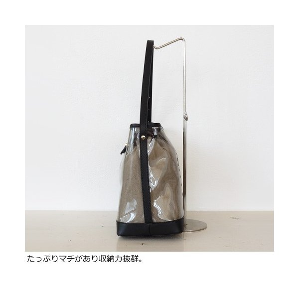 TOPKAPI トプカピ スケルトン ビニール ショルダーバッグ 507-06-80003|amico-di-ineya|07