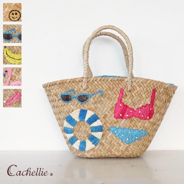 Cachellie (カシェリエ) かごバッグ サマー刺繍 バンカン トートバッグ|amico-di-ineya