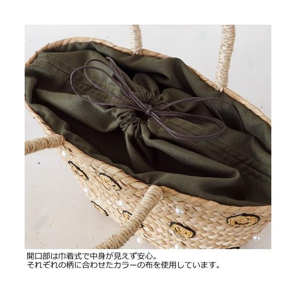 Cachellie (カシェリエ) かごバッグ サマー刺繍 バンカン トートバッグ|amico-di-ineya|03