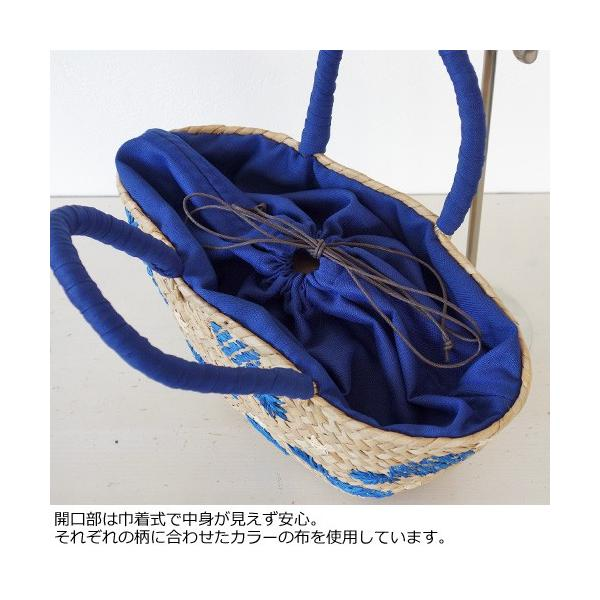 Cachellie カシェリエ かごバッグ パイナップル 刺繍 バンカン トートバッグ 54-4302|amico-di-ineya|03