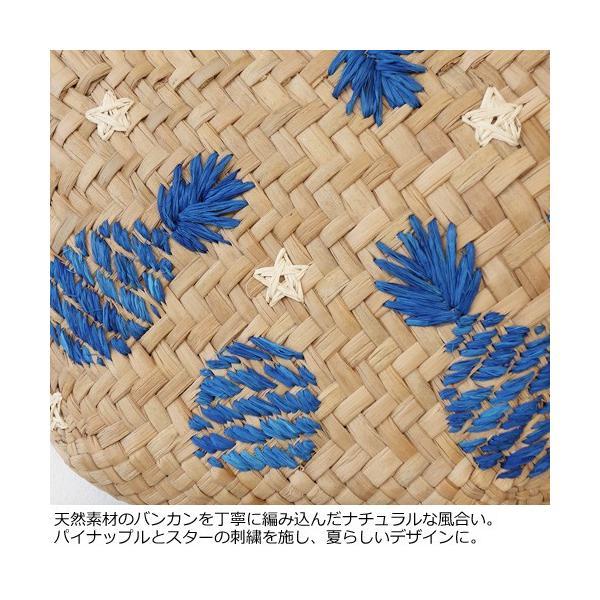 Cachellie カシェリエ かごバッグ パイナップル 刺繍 バンカン トートバッグ 54-4302|amico-di-ineya|05