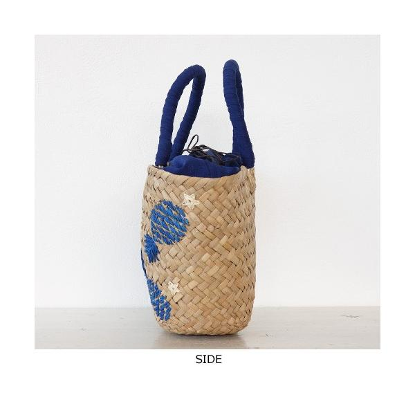 Cachellie カシェリエ かごバッグ パイナップル 刺繍 バンカン トートバッグ 54-4302|amico-di-ineya|06