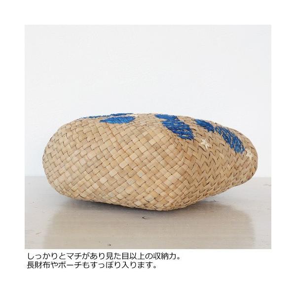 Cachellie カシェリエ かごバッグ パイナップル 刺繍 バンカン トートバッグ 54-4302|amico-di-ineya|07