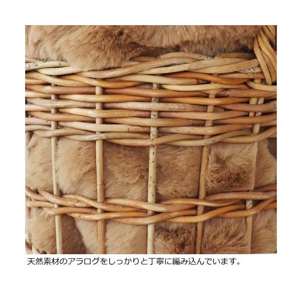Cachellie かごバッグ エコファー巾着付き バケツ型 アラログ|amico-di-ineya|06