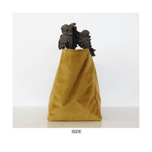 Cachellie トート バッグ フリルハンドル ベロア [Mサイズ] カシェリエ|amico-di-ineya|06