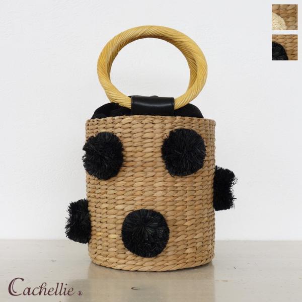 Cachellie (カシェリエ) バンカン バケツ型 ランダムポンポン かごバッグ 54-5952/54-5952 amico-di-ineya