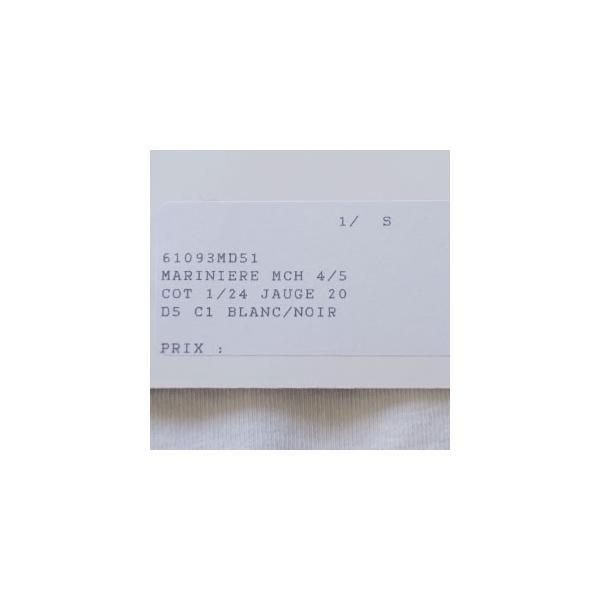 Le minor (ルミノア) 七分袖 コットン パネルボーダー カットソー MARINIERE MCH 61093|amico-di-ineya|09