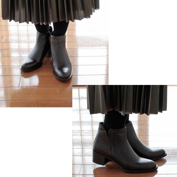 AMIMANERA (アミマネラ) レザー ショート ブーツ STYLE 1130 amico-di-ineya 05
