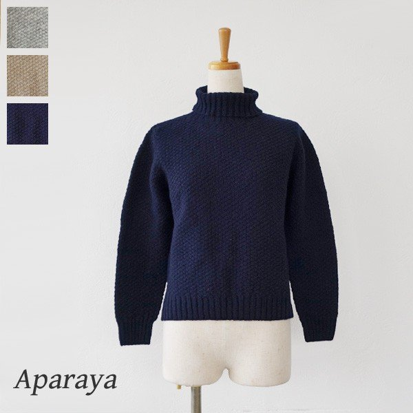 Aparaya アパラヤ ウール タートルネック ニット プルオーバー セーター APF173002|amico-di-ineya