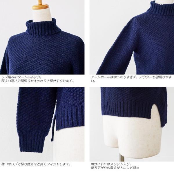 Aparaya アパラヤ ウール タートルネック ニット プルオーバー セーター APF173002|amico-di-ineya|02