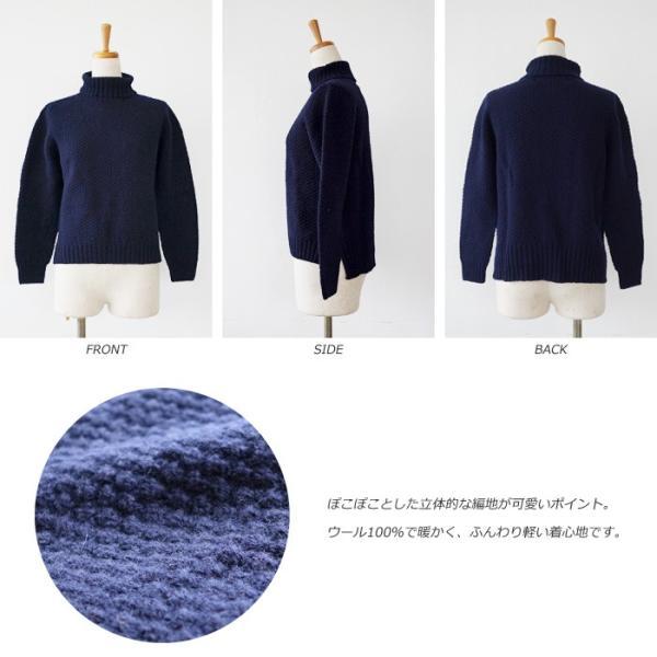 Aparaya アパラヤ ウール タートルネック ニット プルオーバー セーター APF173002 amico-di-ineya 03