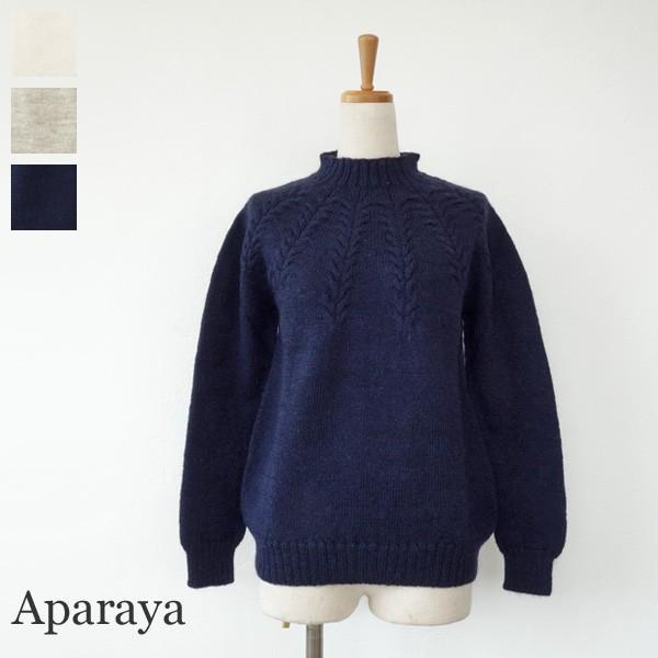 Aparaya セーター ウール ニットプルオーバー ハイネック アパラヤ amico-di-ineya