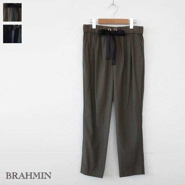 BRAHMIN テーパードパンツ ストレッチ ウエストリボン ブラーミン B34403|amico-di-ineya