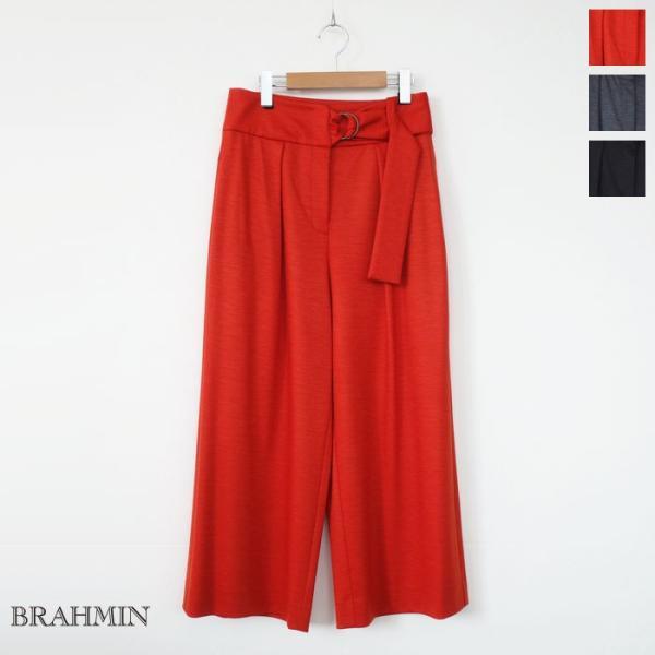 BRAHMIN (ブラーミン) ワイド パンツ ストレッチポンチ ウエストベルト B35411|amico-di-ineya