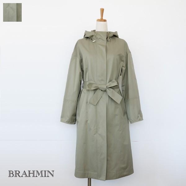 BRAHMIN スプリングコート フード サイドスリット ブラーミン B54671|amico-di-ineya