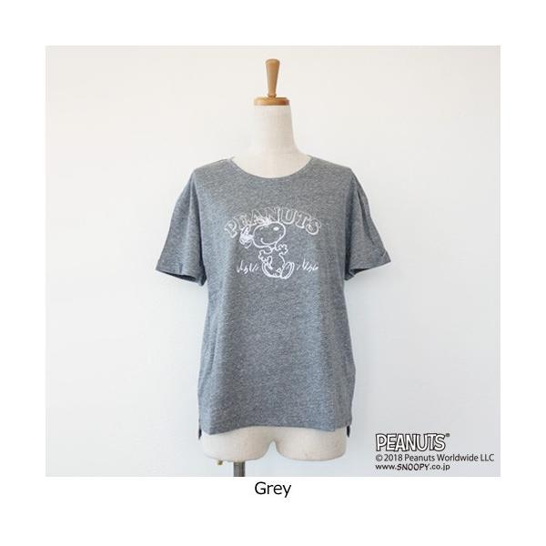 BRAHMIN Tシャツ スヌーピー コラボ PEANUTS コットン リヨセル サイドスリット ブラーミン B84401|amico-di-ineya|08
