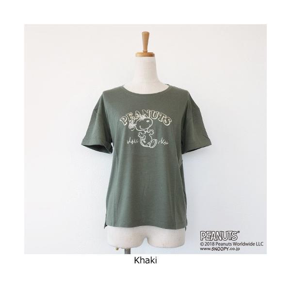 BRAHMIN Tシャツ スヌーピー コラボ PEANUTS コットン リヨセル サイドスリット ブラーミン B84401|amico-di-ineya|09