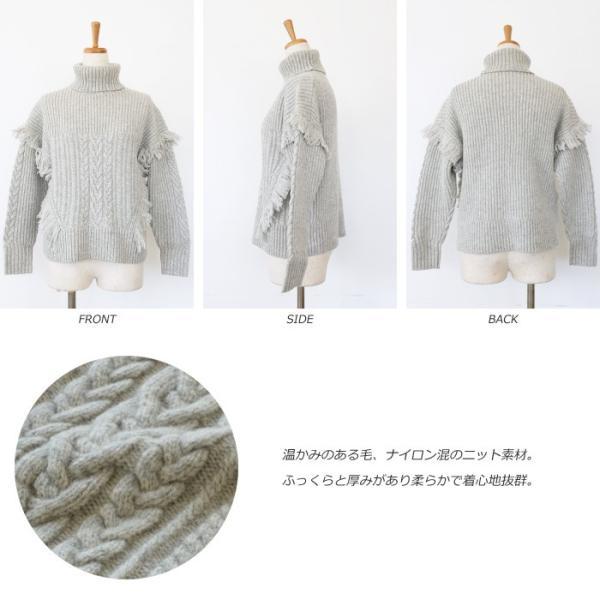 [SALE] BRAHMIN セーター ニット プルオーバー タートルネック ケーブル編み フリンジ ブラーミン B94607 20%OFF 返品不可 amico-di-ineya 06