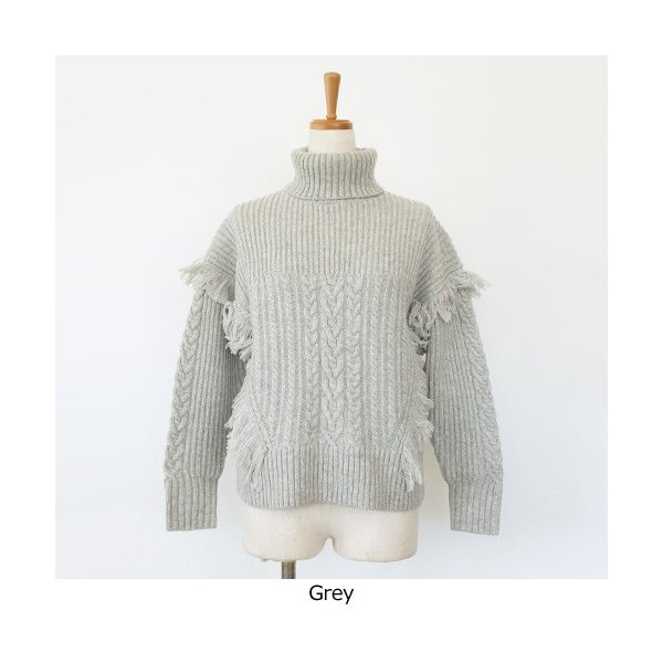 [SALE] BRAHMIN セーター ニット プルオーバー タートルネック ケーブル編み フリンジ ブラーミン B94607 20%OFF 返品不可|amico-di-ineya|08