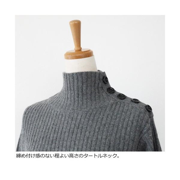 SONOMANIA セーター タートルネック ニット プルオーバー ワイドリブ ボタン ソーノ M175KM011|amico-di-ineya|02