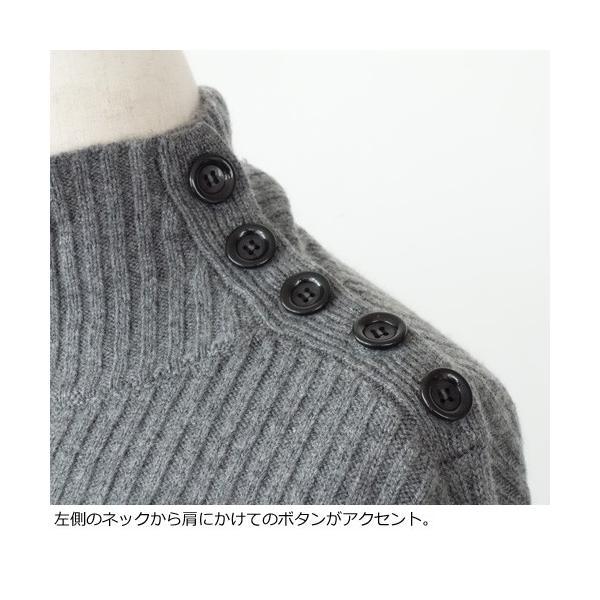 SONOMANIA セーター タートルネック ニット プルオーバー ワイドリブ ボタン ソーノ M175KM011|amico-di-ineya|03