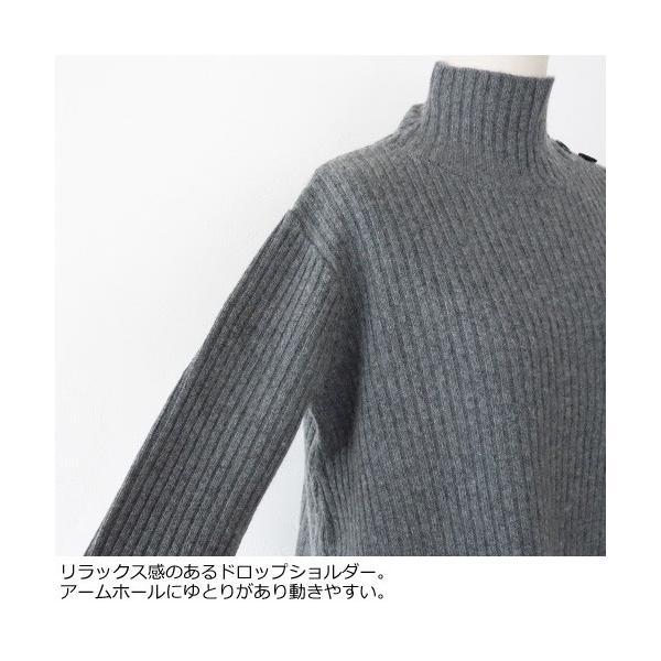 SONOMANIA セーター タートルネック ニット プルオーバー ワイドリブ ボタン ソーノ M175KM011|amico-di-ineya|04
