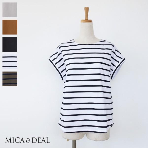 [SALE] MICA&DEAL フレンチスリーブ Tシャツ ラウンドヘム コットン マイカアンドディール M18B115 30%OFF 返品不可 amico-di-ineya