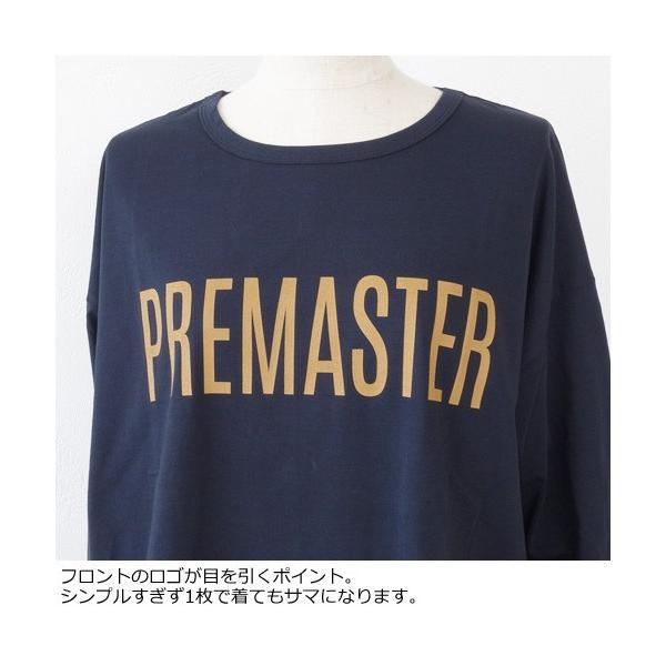 MICA&DEAL 長袖Tシャツ フロントロゴ PREMASTER サイドスリット コットン マイカアンドディール M18C127|amico-di-ineya|04