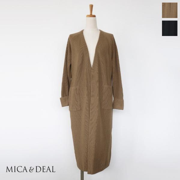 MICA&DEAL (マイカアンドディール) バック ベルト コーディガン 切替 M19C176|amico-di-ineya