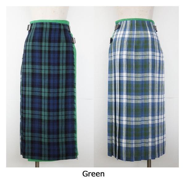 O'NEIL OF DUBLIN (オニールオブダブリン) リネン プリーツラップ スカート COMBINATION LONG KILT T12481|amico-di-ineya|10