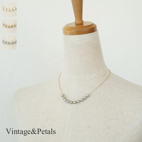 Vintage&Petals ビンテージアンドペタルス コットンパール ネックレス VP155026|amico-di-ineya