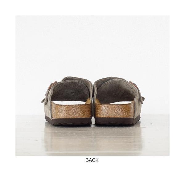 BIRKENSTOCK Zurich Suede Leather ソフトベッド サンダル ビルケンシュトック チューリッヒ [ナローフィット]|amico-di-ineya|07