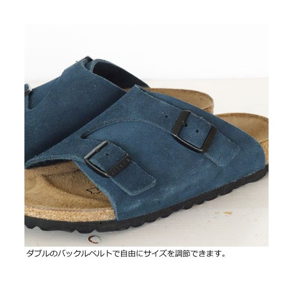 BIRKENSTOCK Zurich Suede Leather サンダル ビルケンシュトック チューリッヒ [ナローフィット]|amico-di-ineya|03