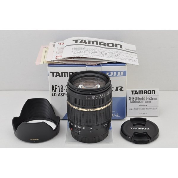 TAMRON AF 18-200mm F3.5-6.3 XR Di II LD Aspherical IF MACRO A14 Canon EFマウント