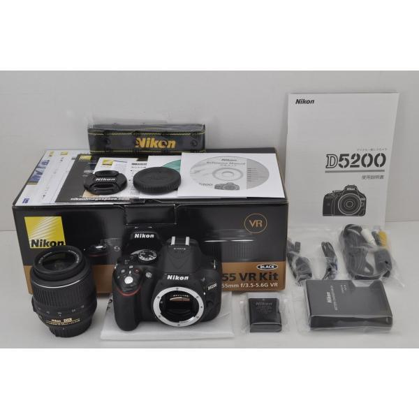 Nikon D5200 ボディ ブラック + AF-S DX NIKKOR 18-55mm F3.5-5.6G VR レンズキット
